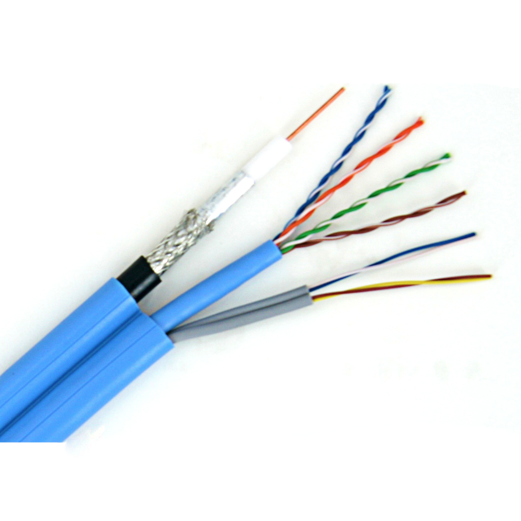 超五类/三类/同轴线复合电缆/M-TD&T-51B-1